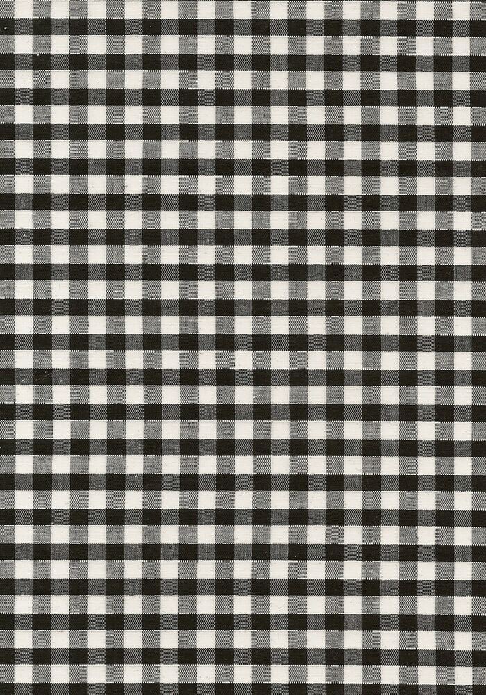 Black white 1 4 gingham check fabric material free uk for Gingham fabric