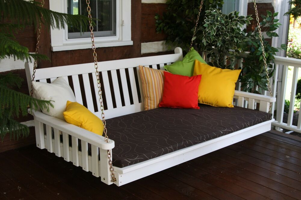 Outdoor 5 Foot Traditional English Swing Bed 8 Paint