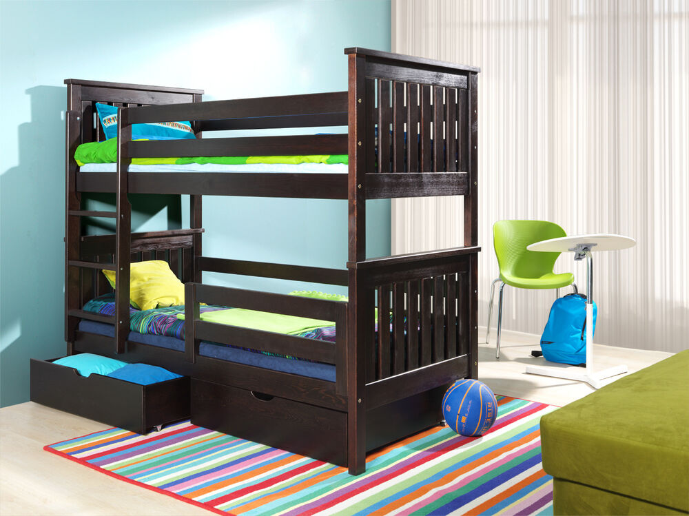 kid beds with storage bed bunk wenge 3ft wooden childrenbeds with mattresses and 15683