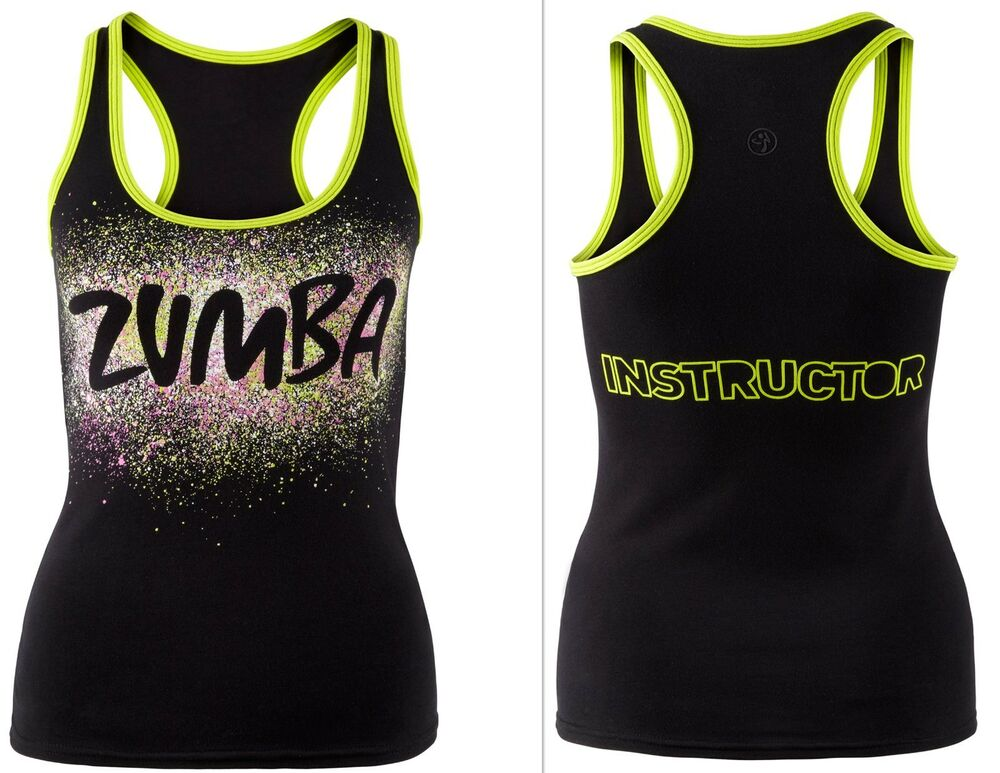 ZUMBA FITNESS Dance INSTRUCTOR RacerBack Top Shirt Tank Tee -fr.Convention RARE! | eBay