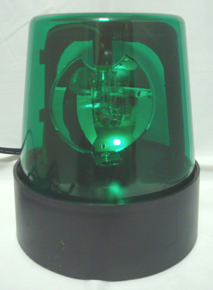 Green 7 Quot Lighted Fire Police Light Beacon Rotating