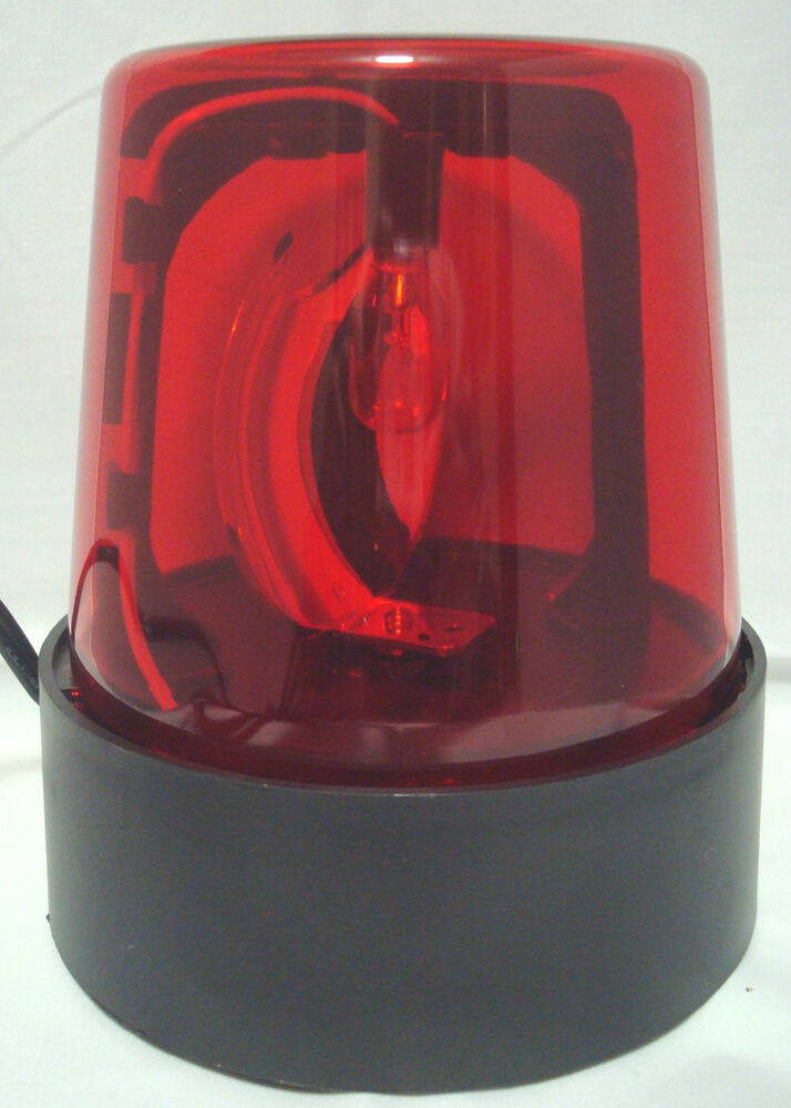 Red 7 Quot Lighted Fire Police Light Beacon Rotating Spinning