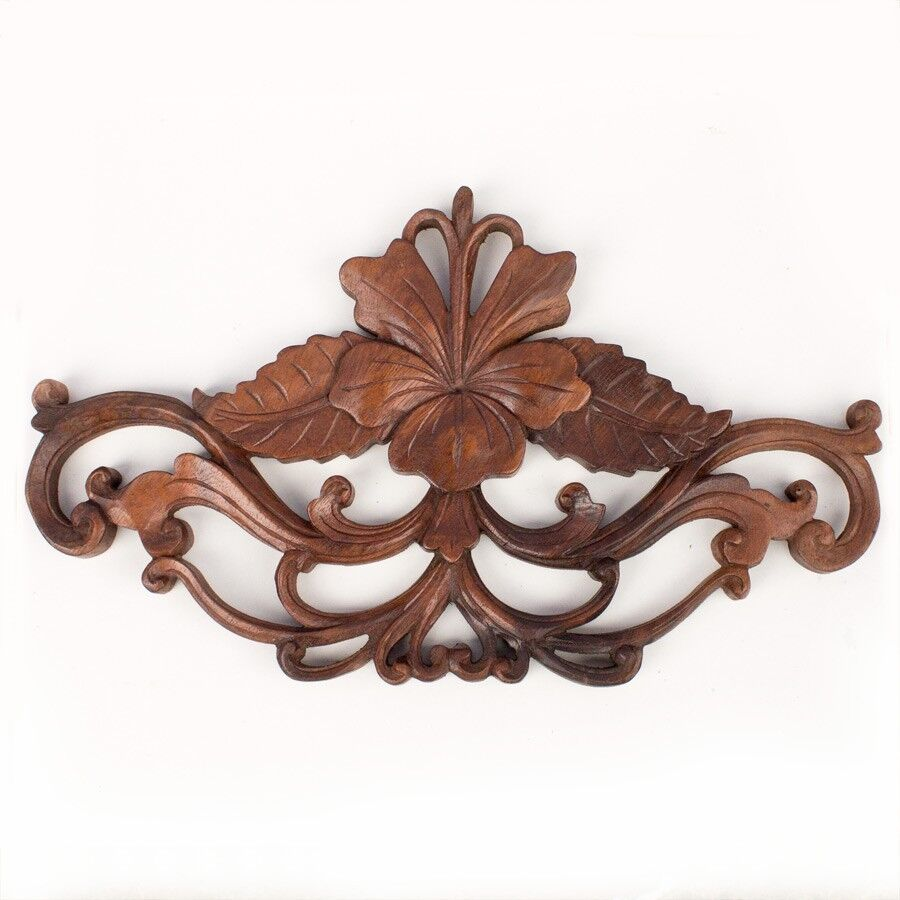 Balinese traditional flower panel wood carving bali wall
