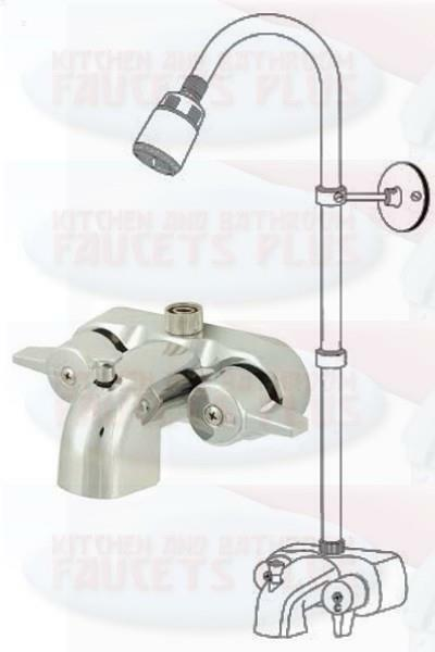 Chrome Bathroom Add A Shower Clawfoot Tub Diverter Faucet