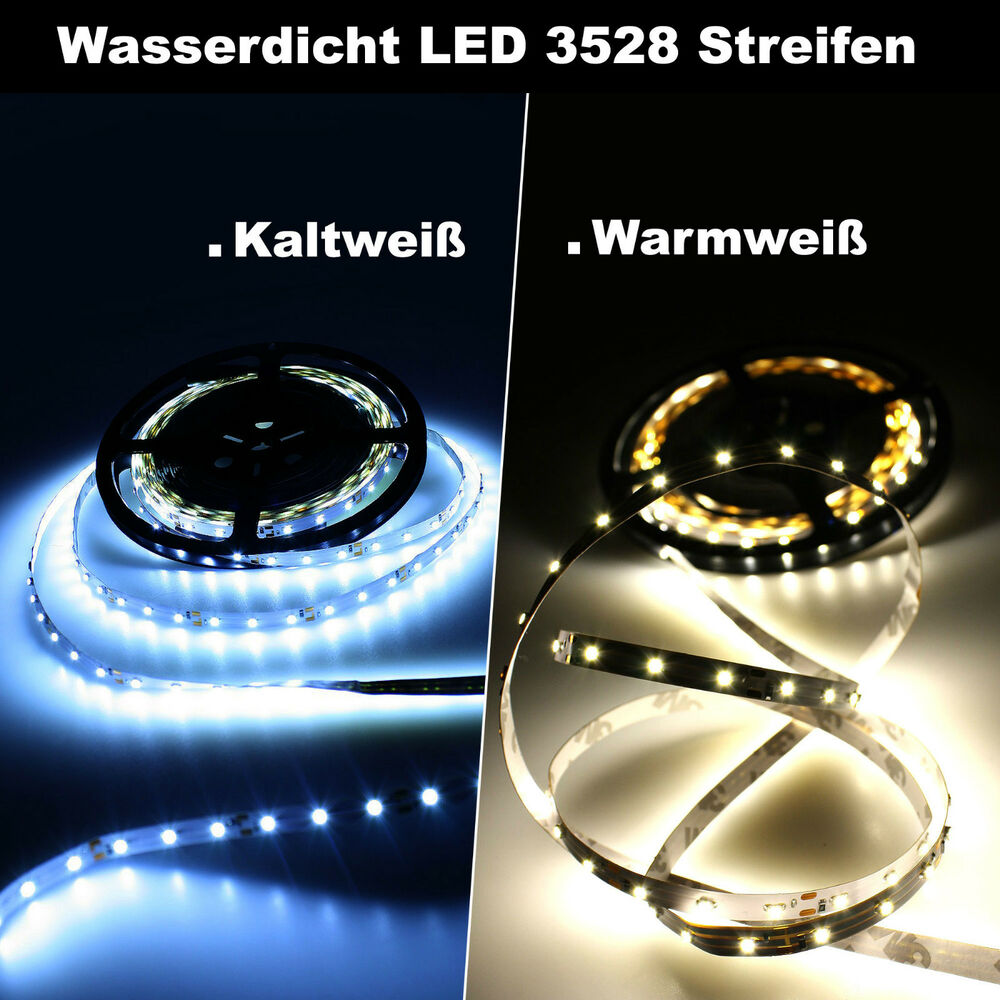 5m led streifen set led stripe smd wasserdicht led leiste. Black Bedroom Furniture Sets. Home Design Ideas