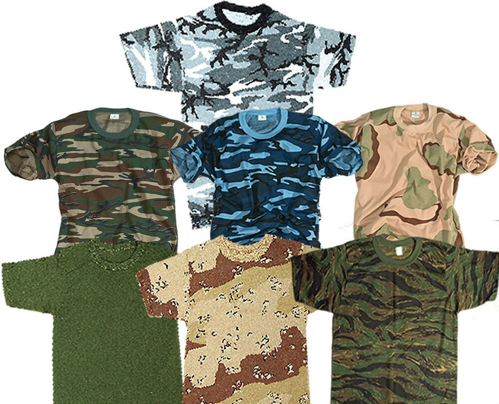 Army Combat Military T Shirt American Us Army Style Camo