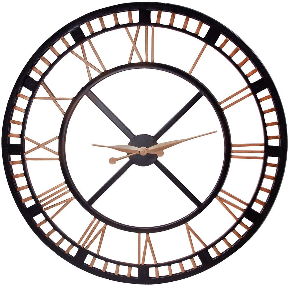 Extra Large Wall Clock Large Iron Wall Clock With Roman