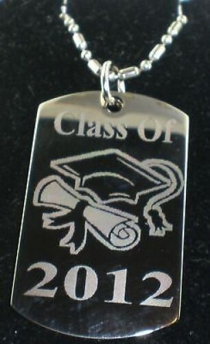 graduation class of 2016 dog tag pendant necklace chain. Black Bedroom Furniture Sets. Home Design Ideas