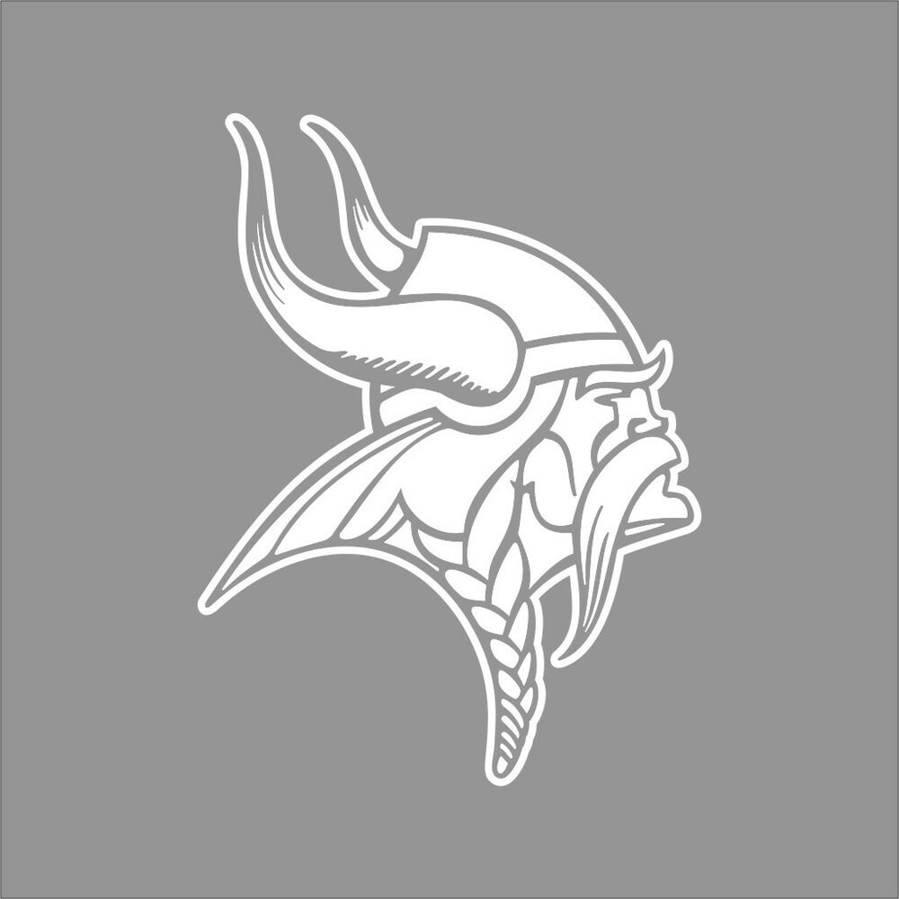 Minnesota Vikings Nfl Team Logo 1color Vinyl Decal Sticker
