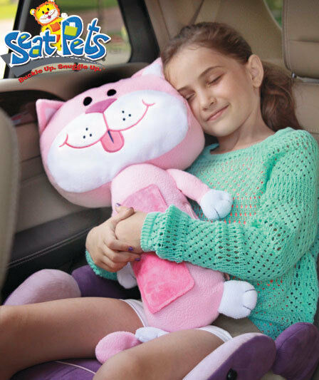 Seat Belt Animal Pillow As Seen On Tv : PINK SEAT PET MERCEDES CAT CAR BELT TOY KITTY PILLOW CHRISTMAS TRAVEL SEEN ON TV eBay