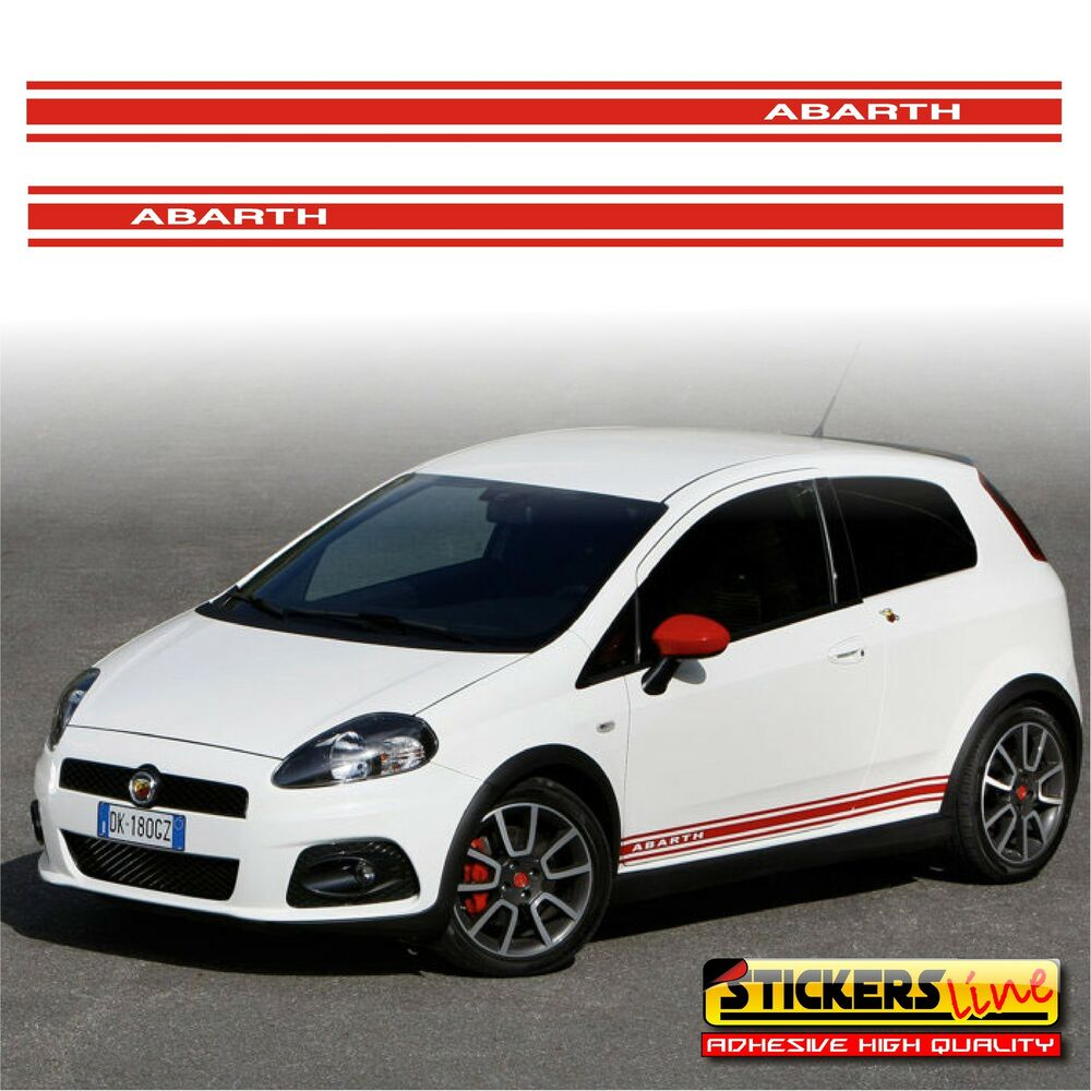 adesivi fiat punto abarth fasce adesive grande punto. Black Bedroom Furniture Sets. Home Design Ideas