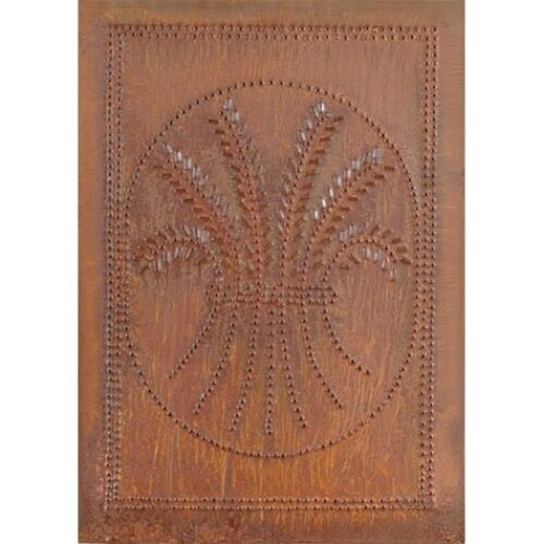 Cabinet Panel Insert Metal Tin Punched Wheat Country