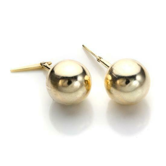 9ct Gold Andralok Ball Stud Earrings Studs 2 5mm 8mm