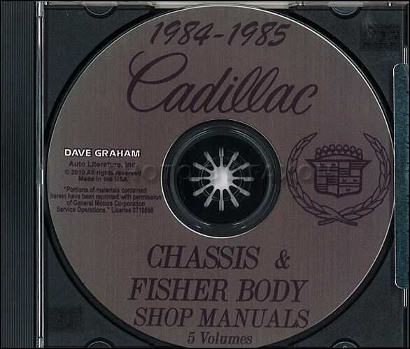 1984-1985 Cadillac Shop Manual And Body CD Deville