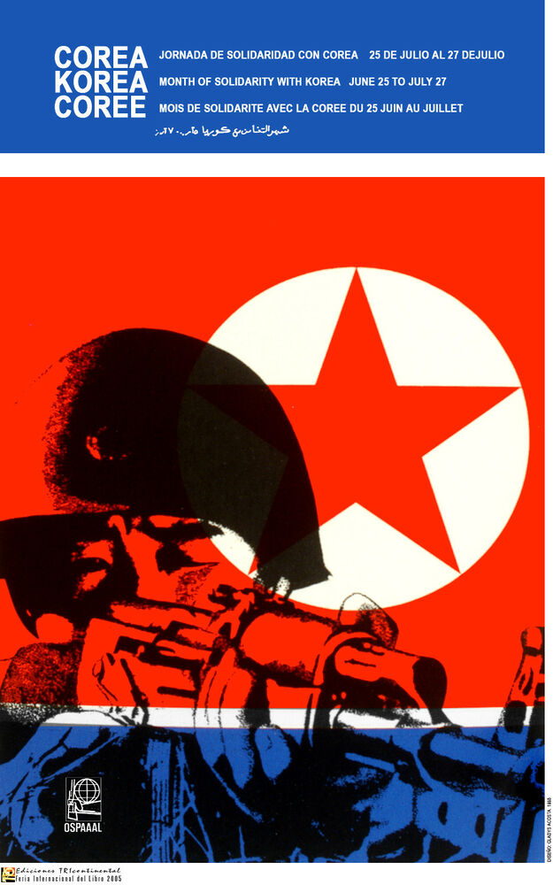 political poster north korea communist army korean asia