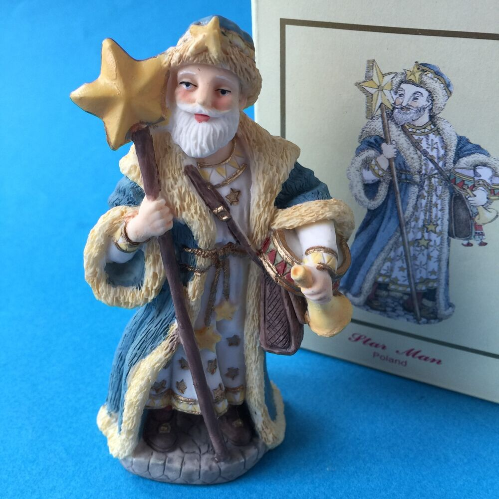 International santa claus collection christmas figurine