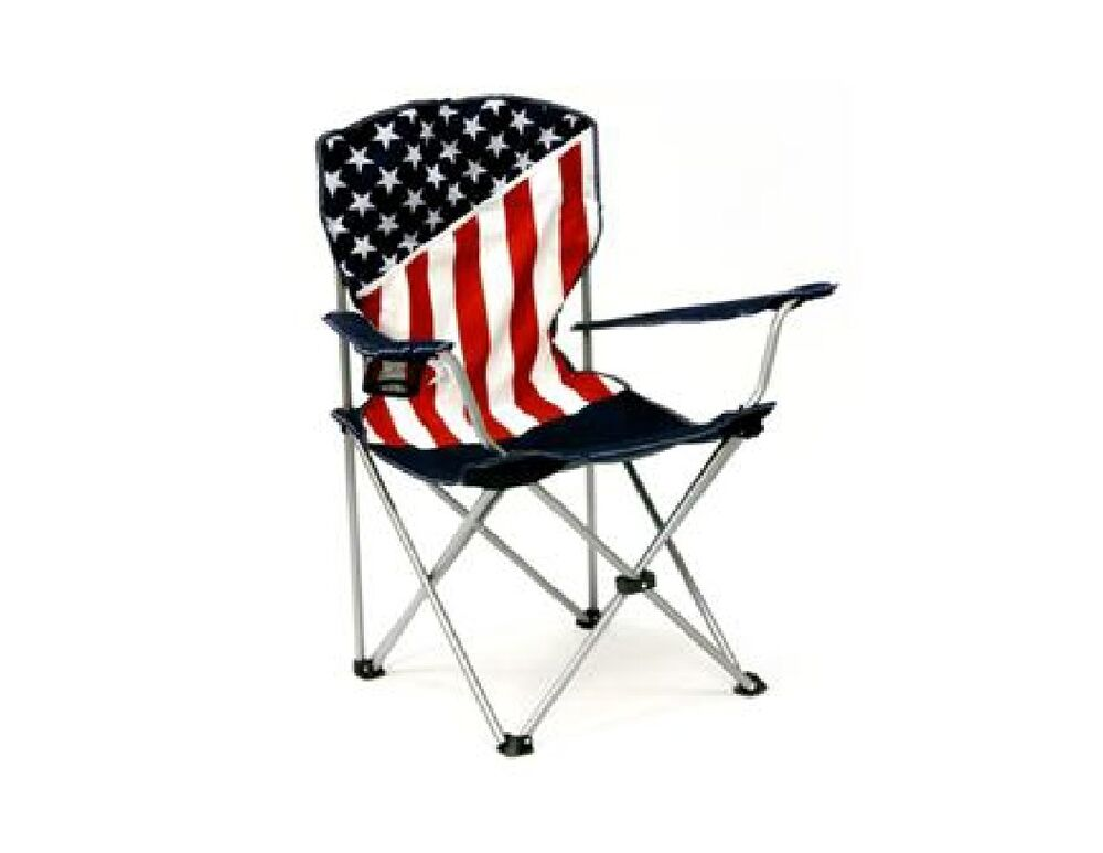 Usa American Flag Folding Canvas Chair Amp Storage Bag Red