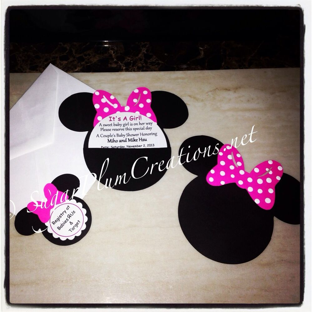 20 custom hand made minnie mouse baby shower invitations ebay
