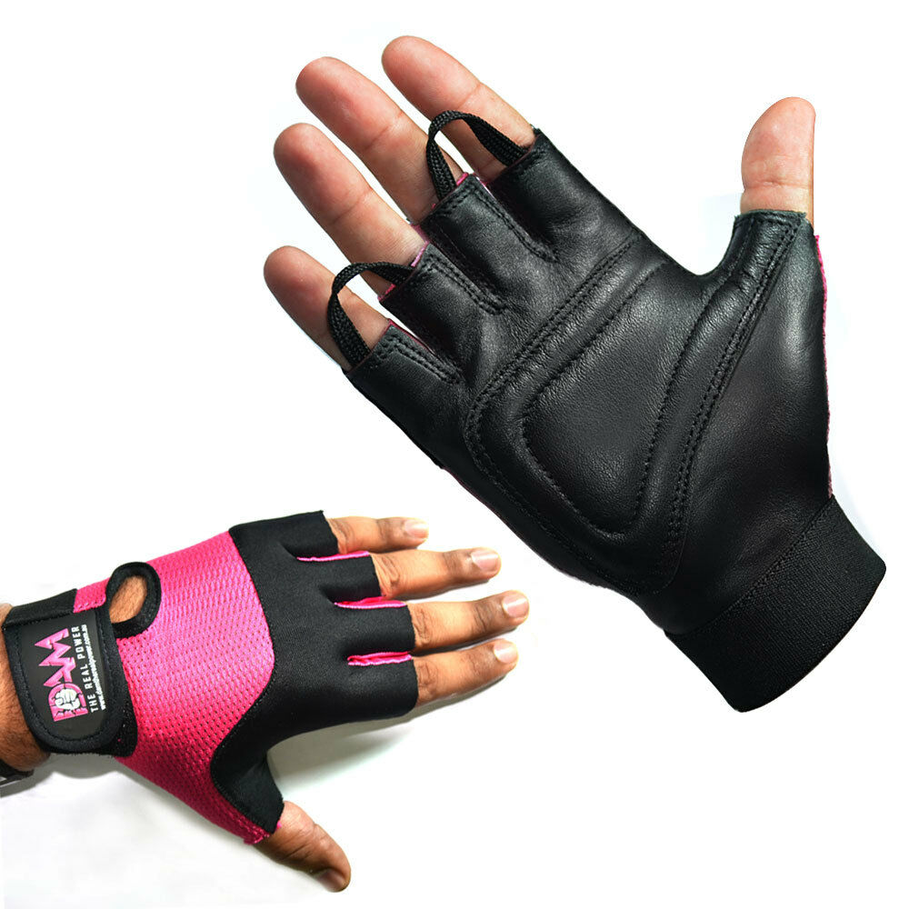 Fitness Gloves Com: DAM LEATHER WEIGHT LIFTING GYM GLOVES, BODY BUILDING