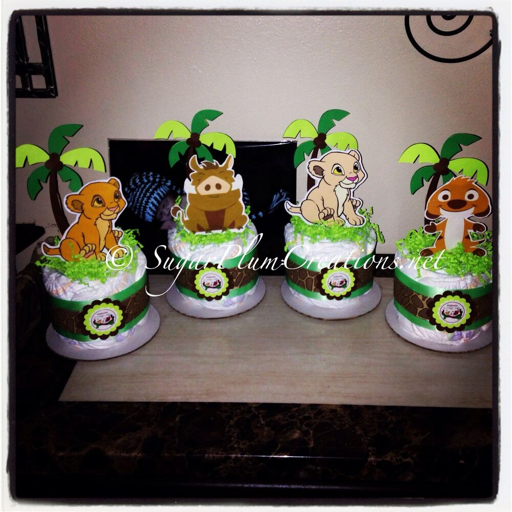 lion king baby simba nala pumba and timon diaper cake mini package