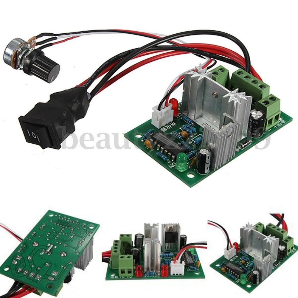 Dc motor speed switch controller 10v 12v 24v control for Speed control electric motor