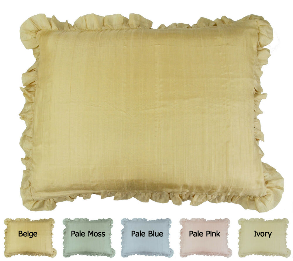 Mulberry Silk Pillow Sham With Ruffled Flange By Empress