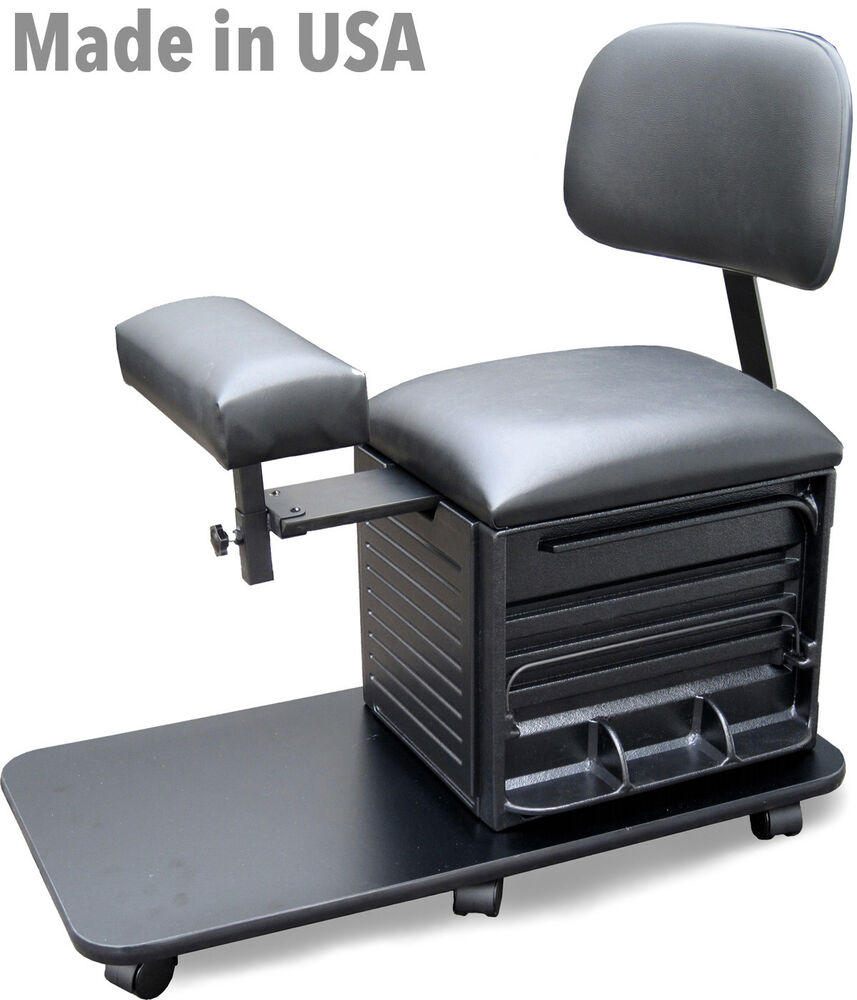 PEDICURE STOOL CHAIR 2318 W BOARD BACK SUPPORT BY DINA MERI MADE IN USA