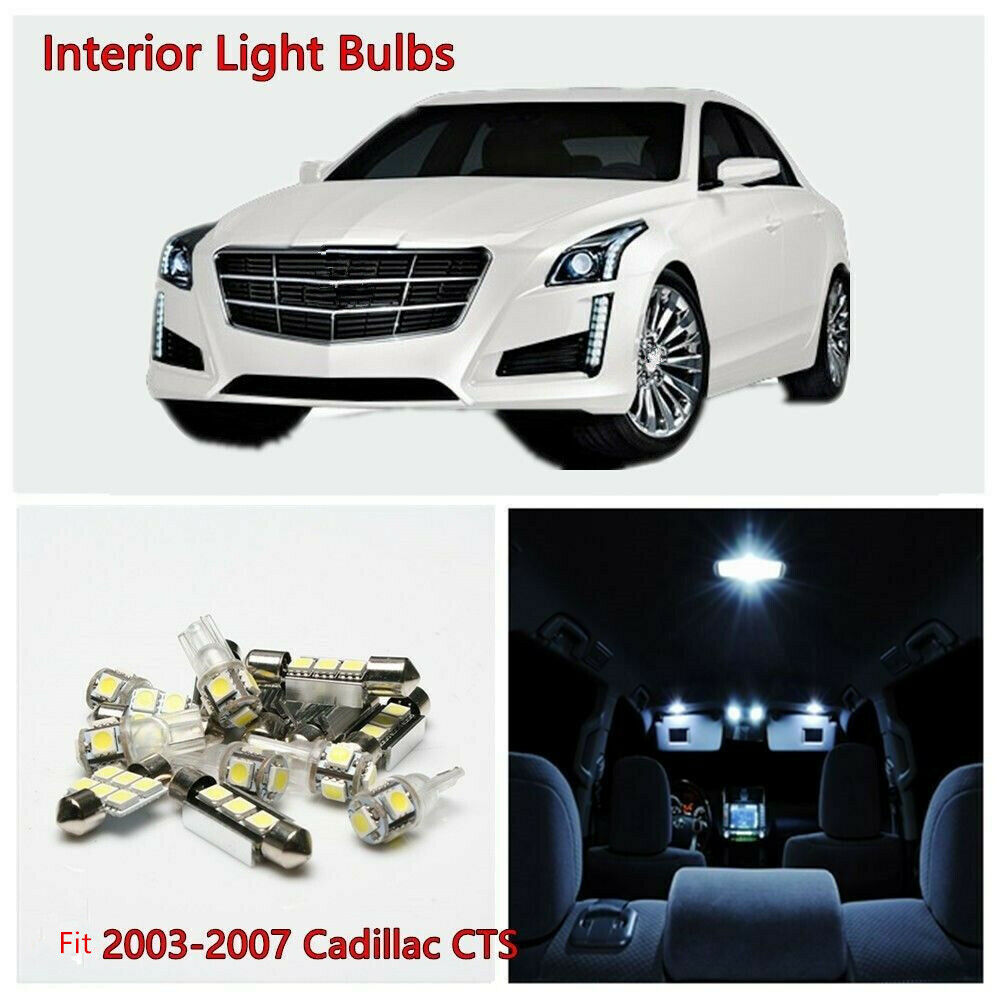 6pcs car parts led lights interior bulbs package kits for - Cadillac cts interior accessories ...
