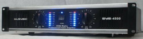 2 channel 4500 watts professional power amplifier amp dj stereo musysic sys 4500 ebay. Black Bedroom Furniture Sets. Home Design Ideas