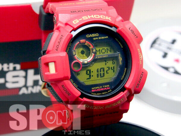 17e01216eeb8 Details about Casio G-Shock Mudman 30th Anniversary RED Limited Men s Watch  G-9330A-4 G9330A 4