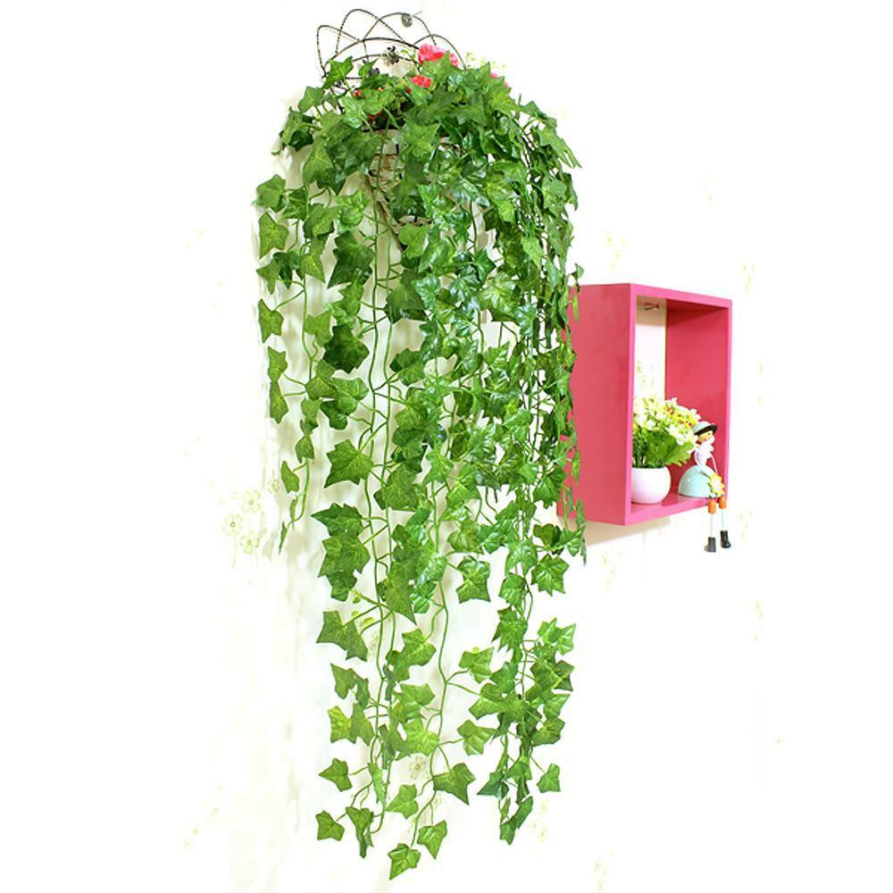 Artificial ivy leaf vines garland plants fake foliage home for Artificial leaves for decoration