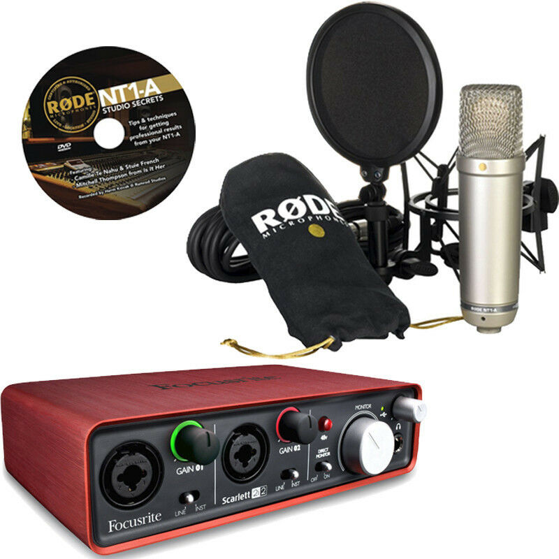 Rode Nt1 A Microphone With Focusrite Scarlett 2i2 Usb