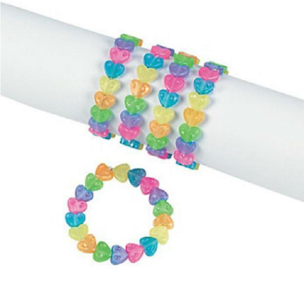 Valentine Bracelets Justin Toys : Valentine s day party favors toy jewelry plastic beaded