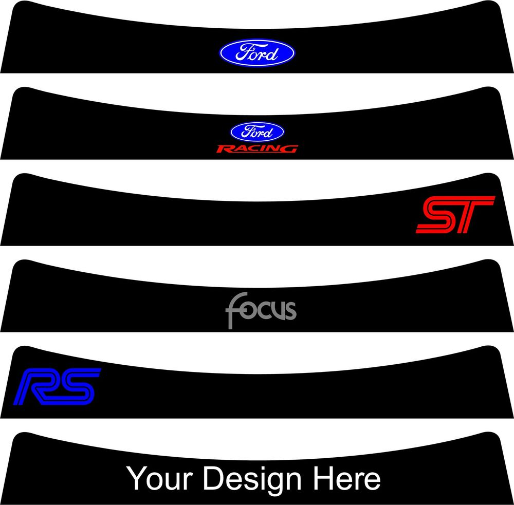Ford Focus Sunstrip For A Mk2 2004 To 2011 Pre Cut No Trimming Required Ebay