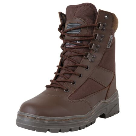 img-BROWN Half Leather Military Boot 50/50 Patrol Tactical Army Boots Size 6-11