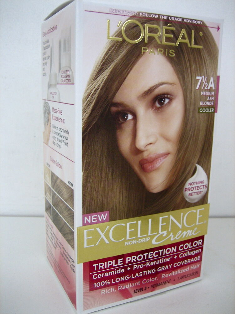 L39Oreal Excellence Hair Color 75A Medium Ash Blonde NEW UNOPENED BOX