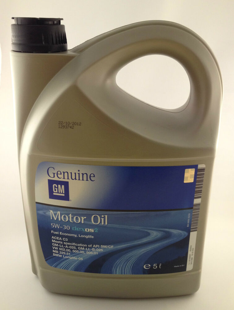 5w 30 genuine gm vauxhall bmw fully syn engine motor oil. Black Bedroom Furniture Sets. Home Design Ideas