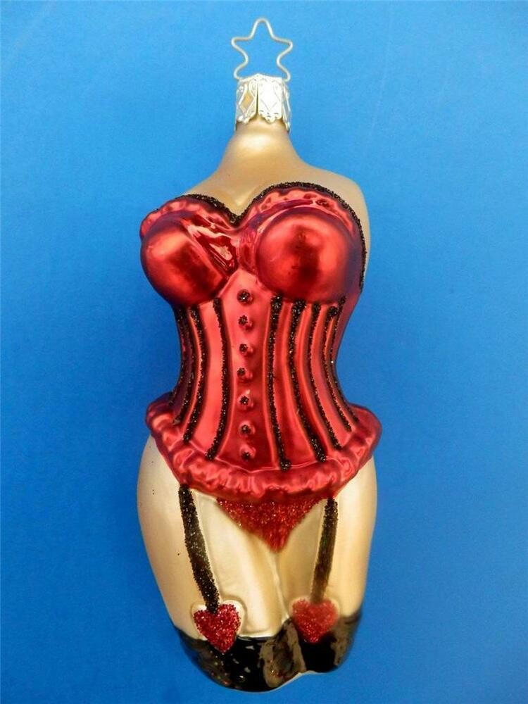 christmas tree ornaments inge glas corsett korsett german blown glass 10876