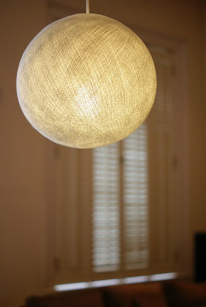 White Big Cotton Ball Lampshade Pendant Large Ceiling Lamp