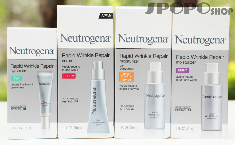 Neutrogena Rapid Wrinkle Repair Eye Cream / Serum / Day /  Night Moisturizer  | eBay