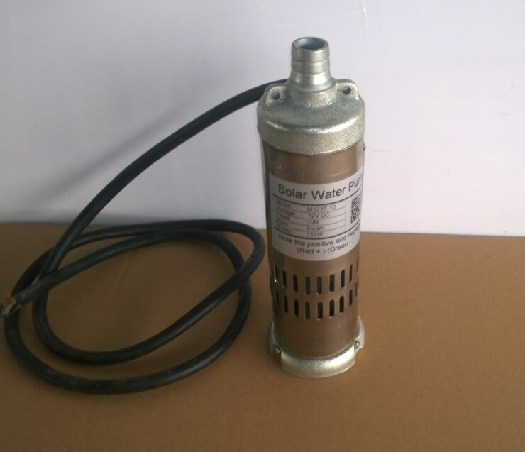 New 12v Dc 132w Solar Submersible Water Well Pump 3m3 Hour