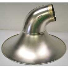 DEMO KING 2350 SOUSAPHONE BELL, SATIN SILVER FINISH WITH BRIGHT SILVER IN BELL