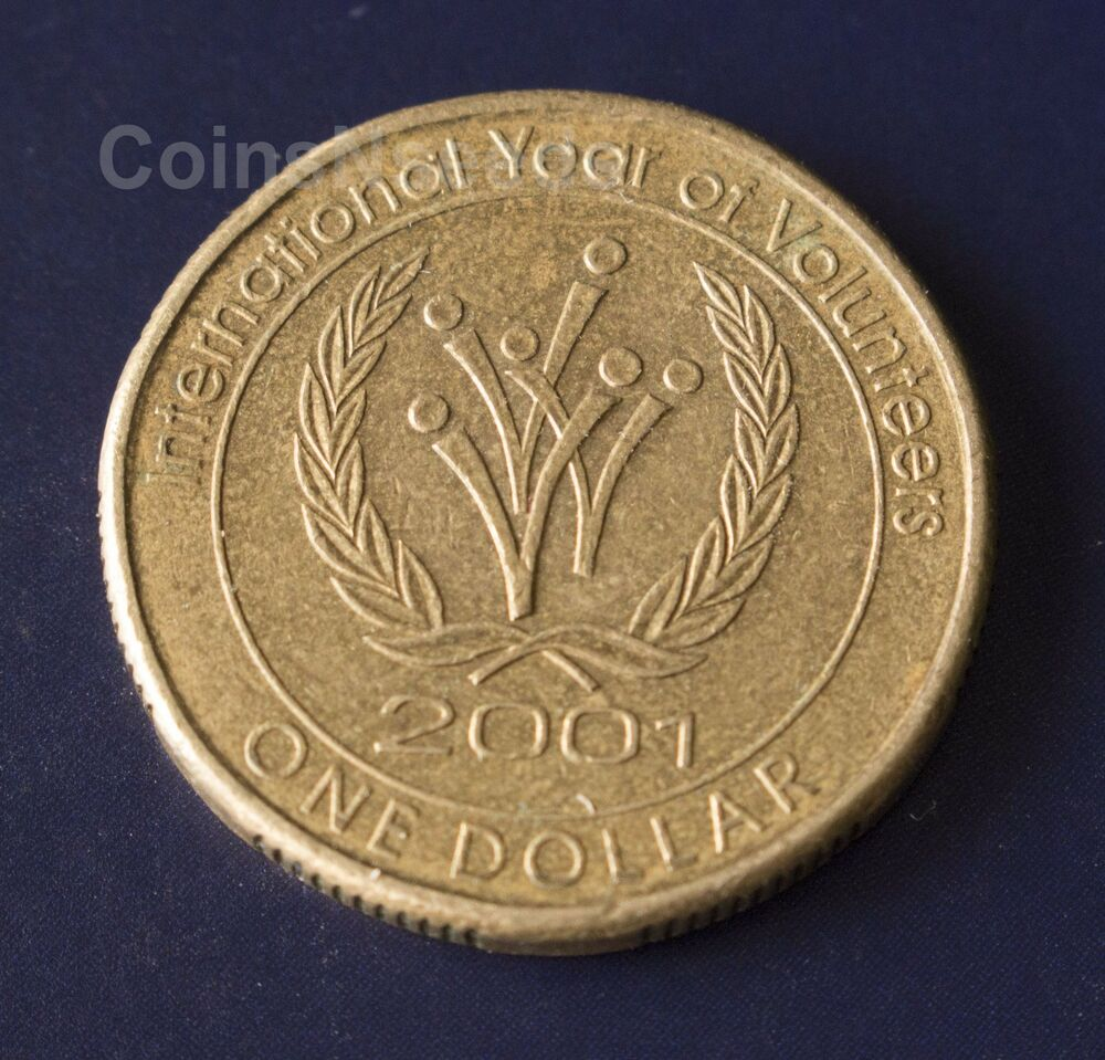 1 coin 2001 international year of volunteers australian for International collection