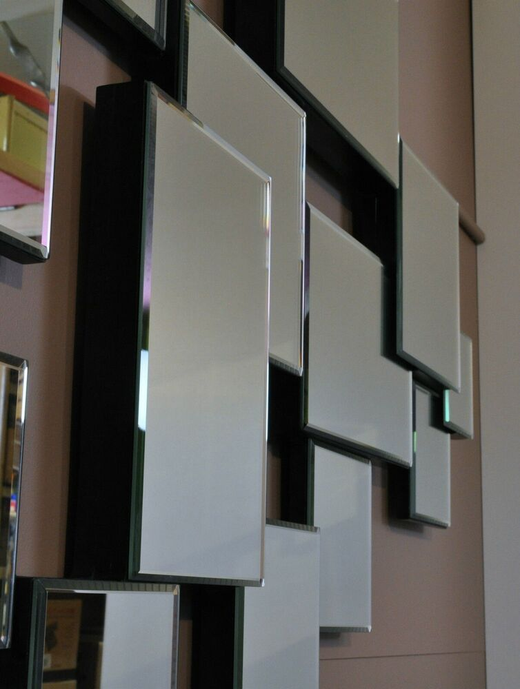Stratus large abstract wall mirror modern deco for Large contemporary mirrors