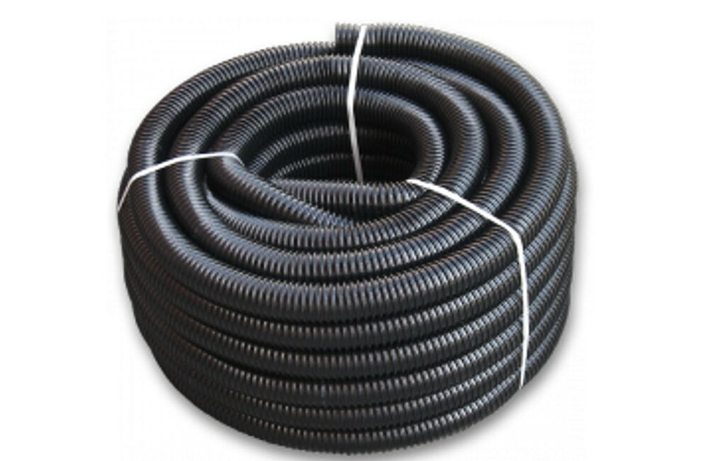 19mm 50mm black corrugated koiflexible hose fish pond for Garden pond hose