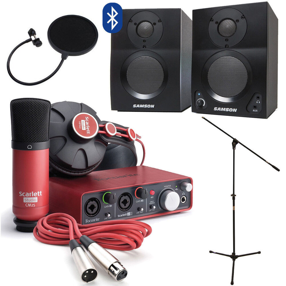 Focusrite scarlett studio w home recording kit monitors for Home with recording studio for sale