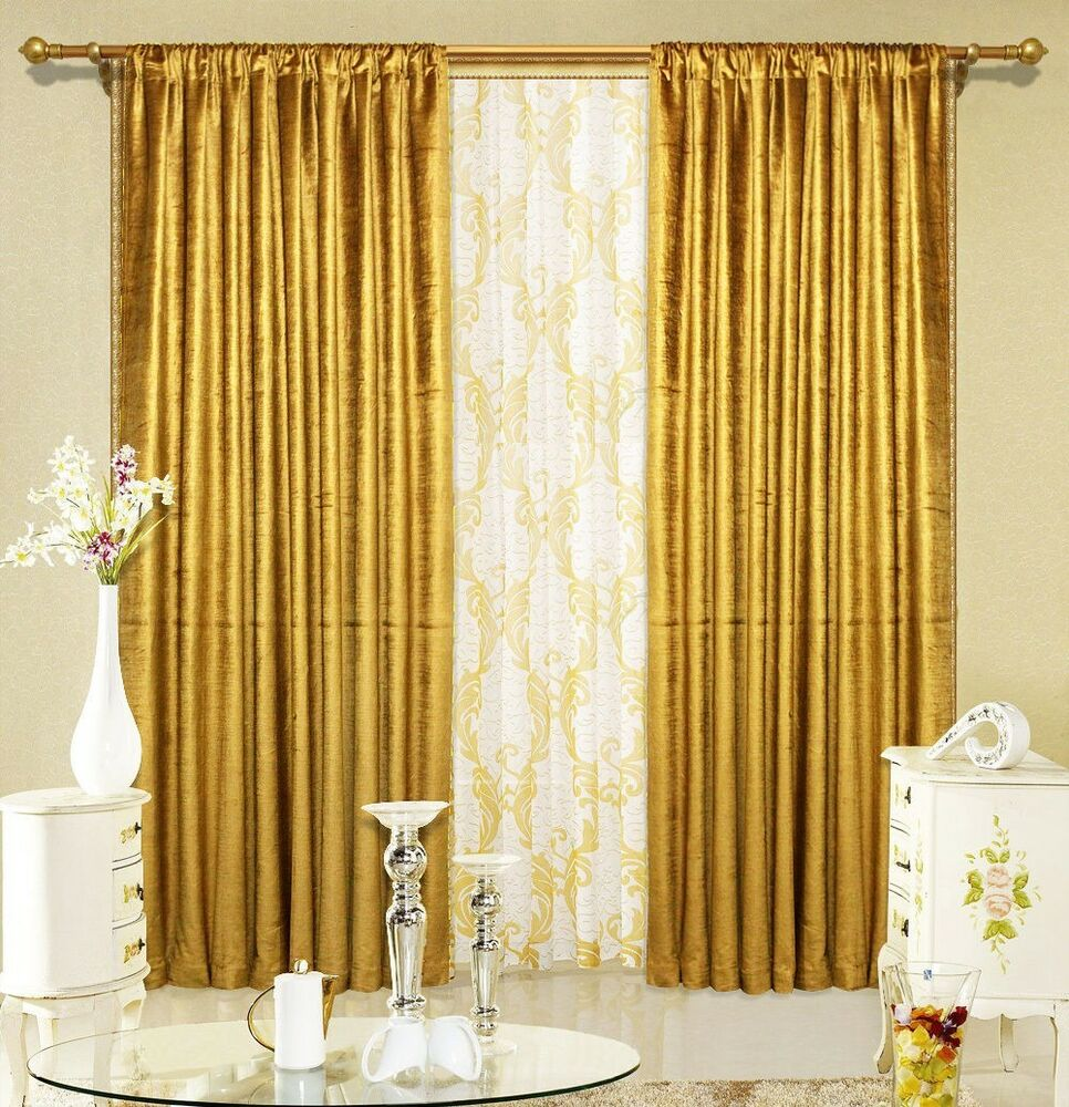 2 tissue lame panel drapes 5ft x 9ft metallic shiny window curtains home decor ebay - Curtains designs images ...