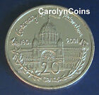 "20 Cent Coin UNC Victoria "" VIC "" 2001 Centenary of Federation Australian 20c"
