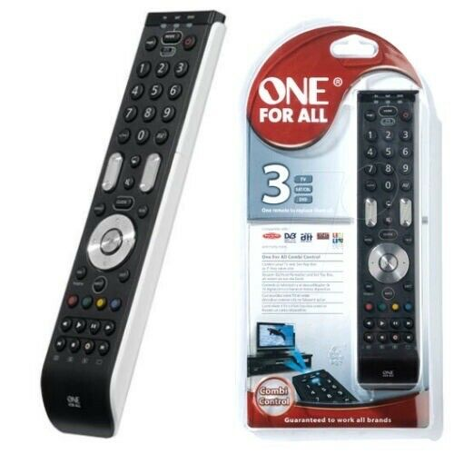 one for all urc7130 universal 3 in 1 tv remote control 8716184043185 ebay. Black Bedroom Furniture Sets. Home Design Ideas