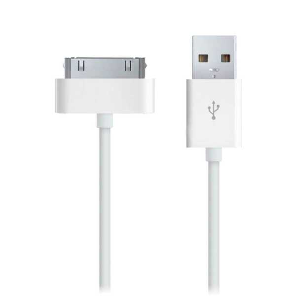 Cavo USB Caricabatteria per iPhone 4 4s s Cable Carica Adattatore Charger Bianco